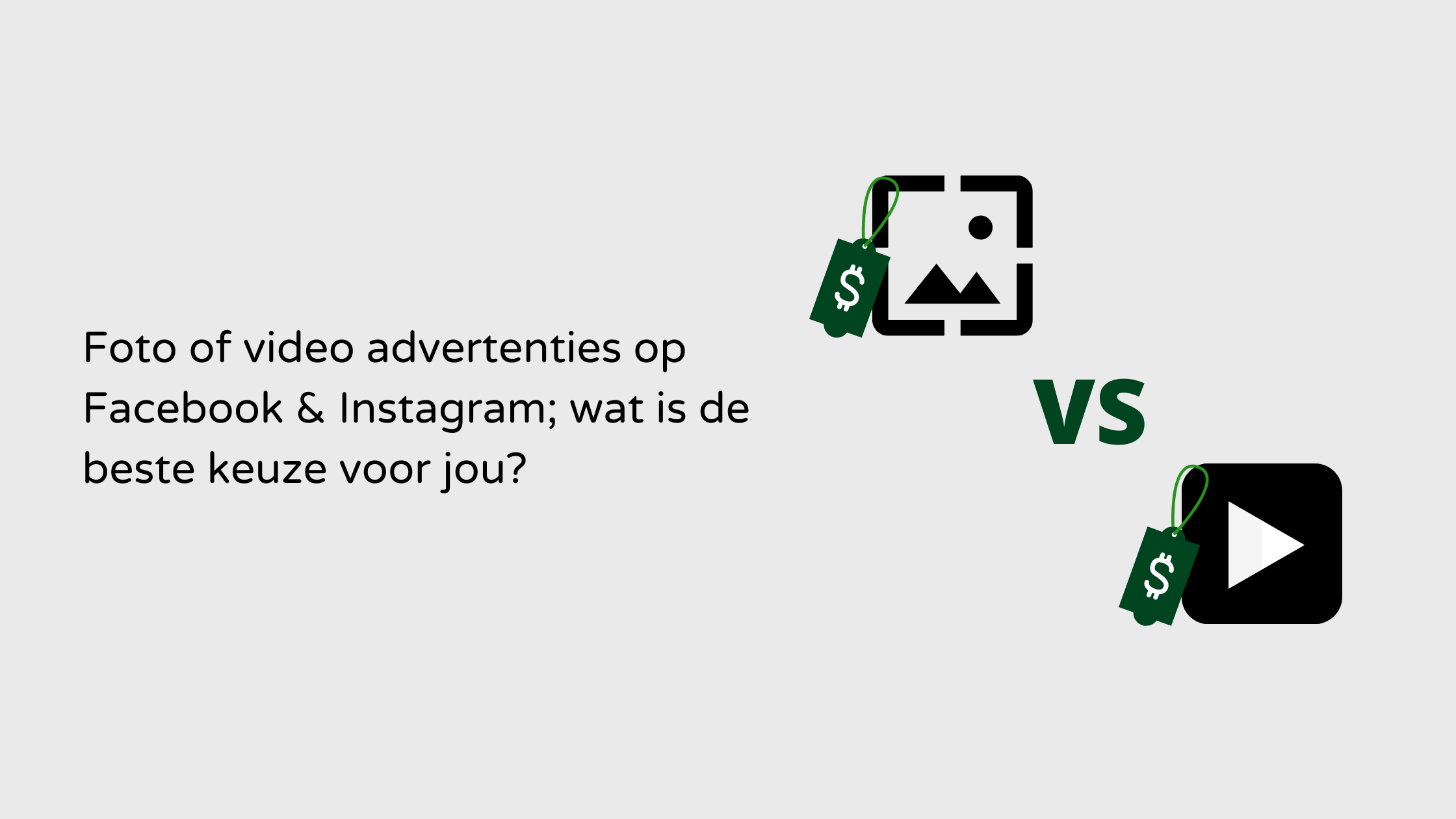 Blog foto of video advertenties op Facebook & Instagram.