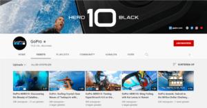 YouTube kanaal GoPro met User Generated Content
